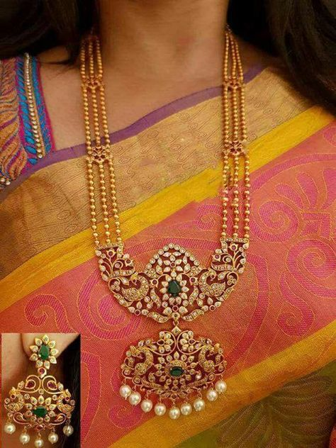 Traditional Indian Golden Necklace & Earrings Jewelry Set For Women Wedding/Festive Wear Beautiful Designer Choker Necklace Jewelry Set-