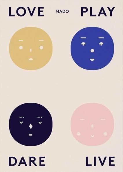 Four Feelings Plakater Play Tapet