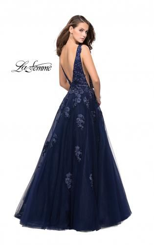1594d2826184a Picture of: Tulle Ball Gown with Beading, Lace, and Mesh Detailing, Style:  26334, Back Picture