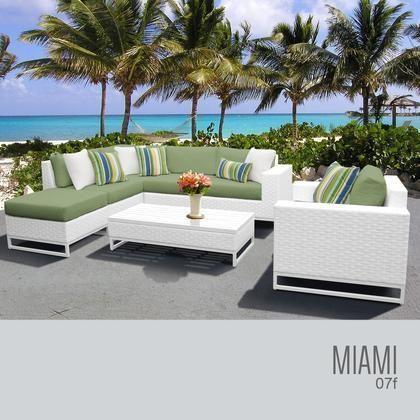 Miami 07f Cilantro Miami 7 Piece Outdoor Wicker Patio Furniture