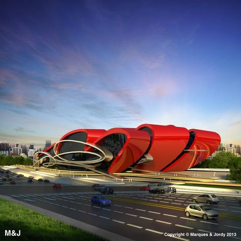 Oasis Exhibition Centre by Marques the first will be located on a site in the Longquan District of Chengdu.