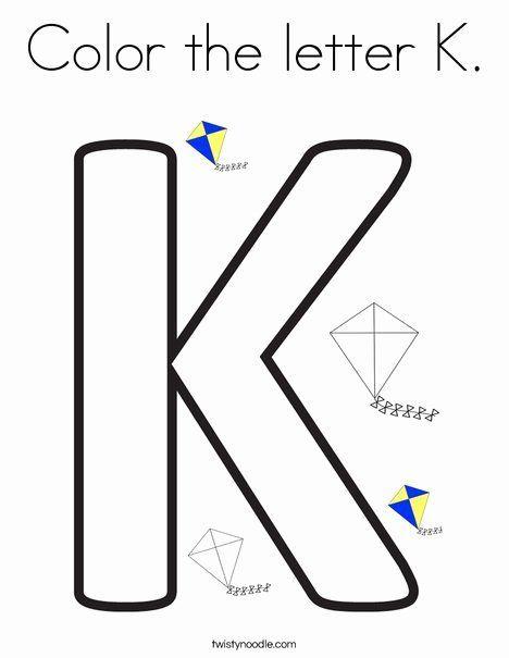 Letter K Coloring Sheet Best Of Color The Letter K Coloring Page Twisty Noodle