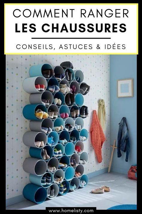 61 Idees Astuces Pour Le Rangement Des Chaussures Idee Rangement Idee Rangement Chaussure Meuble Rangement Chaussures