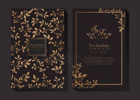 black and gold invitation template