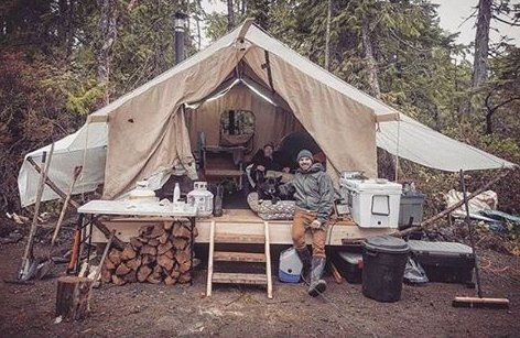 """Tiny House Blog on Instagram: """"Most people would call this camping but some  live this way full time. Woul Most people would call this camping but some  live this…, 2020"""