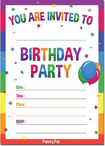 Nice Birthday Party Invite Perfect 73