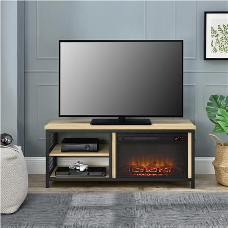 Ameriwood Furniture Brookspoint Fireplace Tv Stand For Tvs Up To