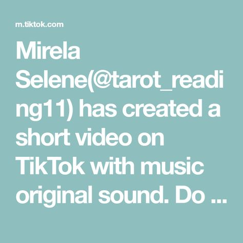 Mirela Selene(@tarot_reading11) has created a short video on TikTok with music original sound. Do what you can, where you are, with what you have. #tarot #tarotreading #tarotreader #fyp #111