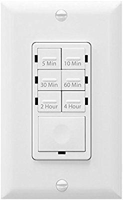 Enerlites Het06 4h W Het06 W 5 10 30 60 Minutes 2 4 Hours Preset Countdown Timer Switch For Bathroom Bathroom Exhaust Fan Light Exhaust Fan Light Dimmable Led