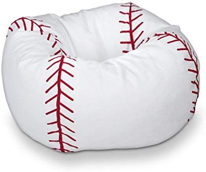 Amazon Com Michael Anthony Furniture Baseball Matte Bean Bag Toys Games Baseball Room Baseball Bedroom Boys Baseball Bedroom
