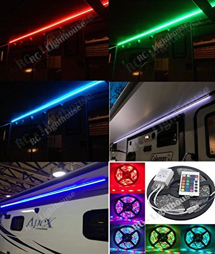 Rv Awning Camper Recreational Vehicle Rgb Led Lights With Https Www Amazon Com Dp B0178hhmg2 Ref Cm Sw R Pi Dp Camper Lights Awning Lights Rgb Led Lights