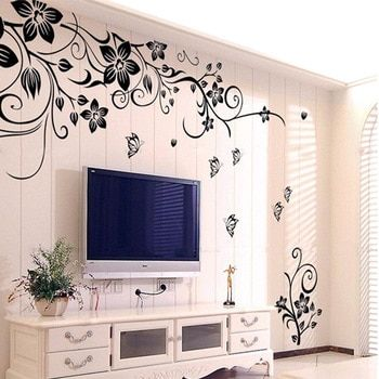 Hot Diy Wall Art Decal Decoration Fashion Romantic Flower Wall Sticker Wall Stickers Home Decor 3d Wallpaper Free Shipping Wall Stickers Home Decor Home Decor Paintings Vinyl Wall Art