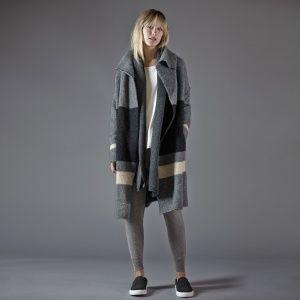 James Perse Striped blanket Sweater Coat | Weekend Closet ...