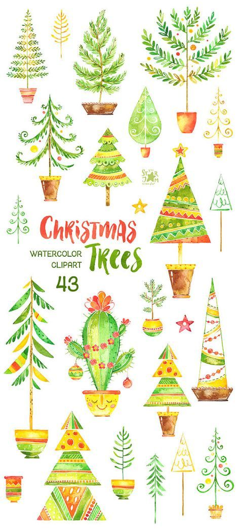 Christmas Tree Watercolor Background 34 Ideas Paper Crafts Fur