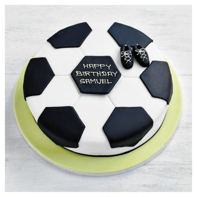 Outstanding Fiona Cairns Football Cake 20Cm In 2020 Soccer Birthday Cakes Funny Birthday Cards Online Inifofree Goldxyz