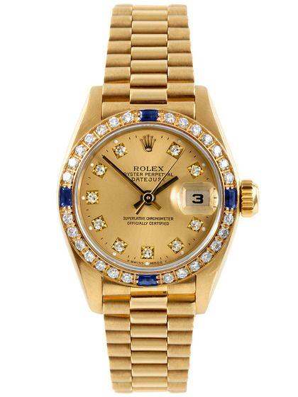 Rolex Yellow Gold Presidential Watch, Factory Diamond Dial & Bezel, by Rolex at Gilt