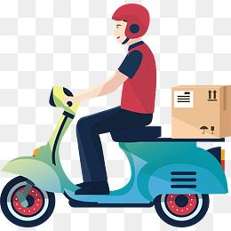 A Motorcycle Delivery Man Vector Png Delivery Express Delivery