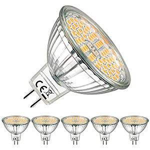 Eacll Gu5 3 Led Bulbs 2700k Warm White Mr16 12v 5w 500 Lumens Equivalent 60w Perfect Replacement 50w Halogen Beam Angle 120 Led Bulb Bulb Warm White