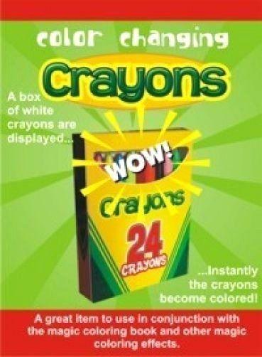 Coloring Book Magic Trick Elegant Color Changing Crayons Box Magic Trick Clown Magician Coloring Books Magic Tricks Book Crayon Box