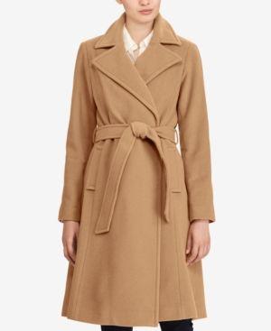 Lauren Ralph Lauren Petite Wool Cashmere Blend Wrap Coat
