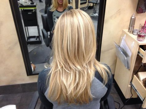 Natural Blonde Balayage - love this hair color technique!