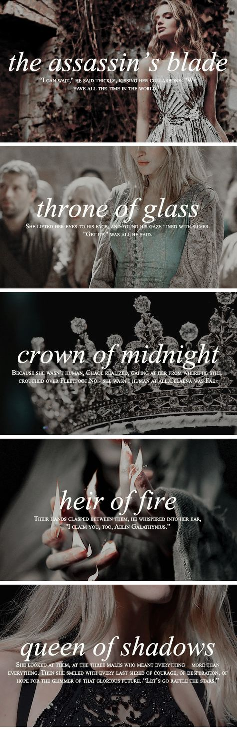 """""""She was fire, and light, and ash, and embers. She was Aelin Fireheart, and she bowed for no one and nothing, save the crown that was hers by blood and survival and triumph."""""""
