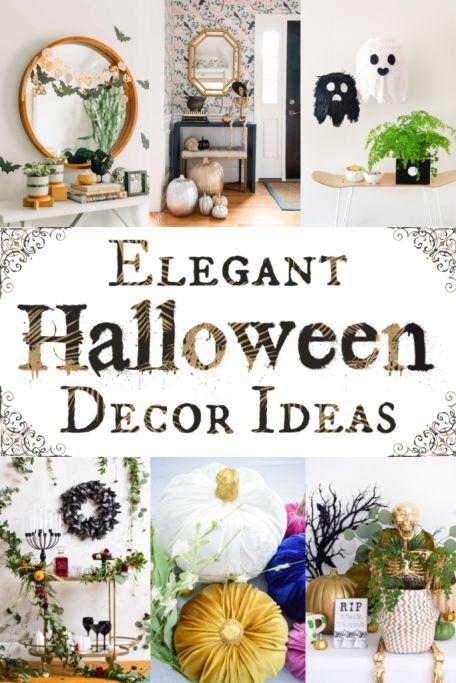Frighteningly Elegant Halloween Decor Ideas Halloween Decorations Spooky Halloween Decorations Halloween Home Decor