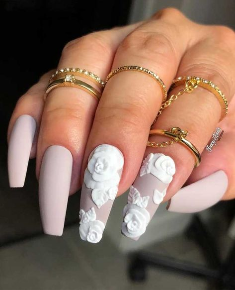 """The most stunning wedding nail art designs for a real """"wow"""" 100 Wedding Nail Designs for Brides, bridal nails nails bride,wedding nails with glitter, nails for wedding guest"""