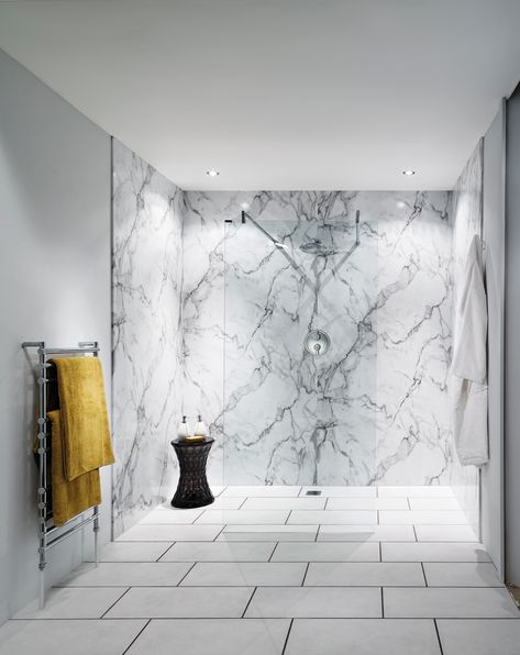 Nuance laminate panelling is an ideal alternative to tiling.  There are no grout lines to scrub at and day to day cleaning is no more than a simple wipe down.  Nuance panels come in a choice of sizes that make them flexible in both design and use in any bathroom.  They can be used to panel out the wall around the bath and even around the bath itself.  The large format panels with postformed outer edges mean there are no extrusions and few visible joints to detract the eye.
