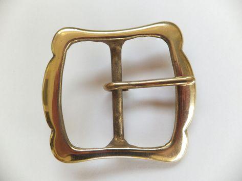 "Solid Brass  1-3//4/""  45 mm REENACTMENT Belt Buckle Leathercraft BARGIN BIN"