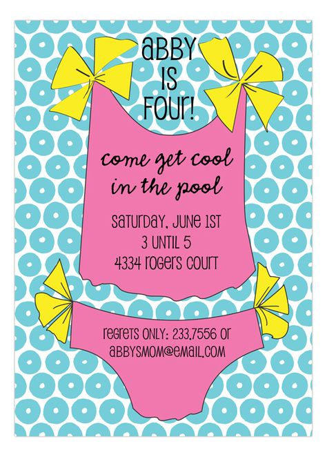 Pink Bathing Suit Invitation from Picture Perfect