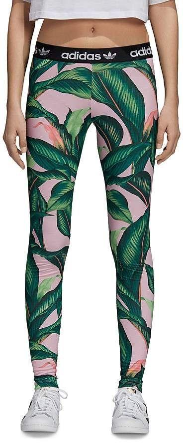 adidas leggings palm print