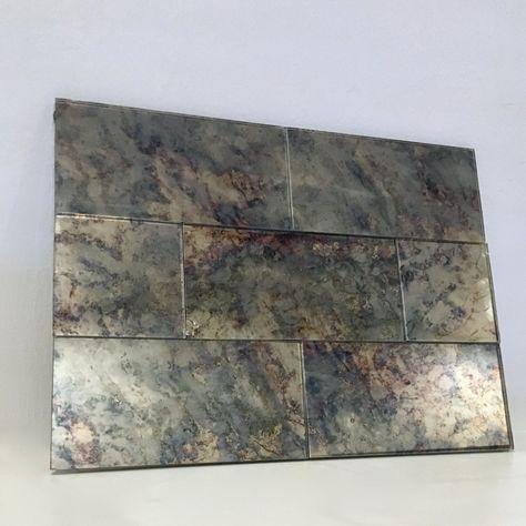 Colorful Hydrangea Tiles Antike Spiegel Shabby Chic Zimmer Und