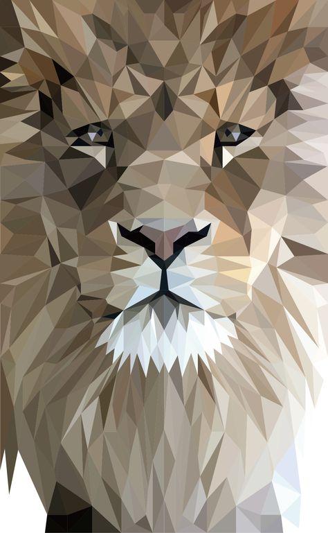 лев в треугольнике картинки она