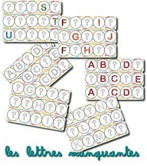 La Maternelle De Laurene Alphabet A Completer Reconstituer Hema La Maternelle De Laurene Jeux Alphabet Alphabet Francais
