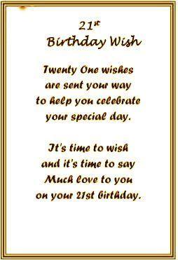 21st Birthday Wishes For Boy Girl Birthdaywishings Com Happy 21st Birthday Quotes 21st Birthday Quotes 21st Birthday Wishes
