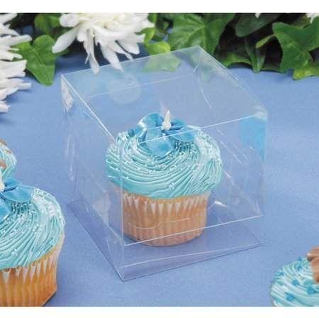 Victoria Lynn Cupcake Box Clear 3 5 Inches 12 Pcs Walmart Com Cupcake Boxes Single Cupcake Boxes Individual Cupcake Boxes