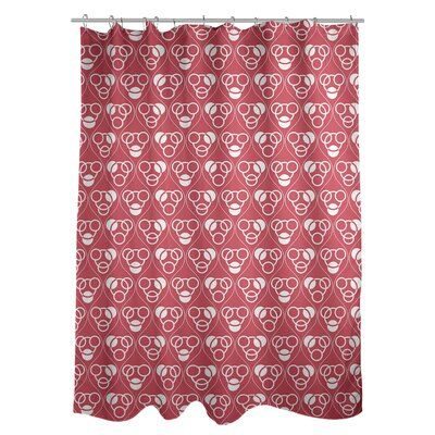 East Urban Home Classic Circles And Waves Single Shower Curtain In