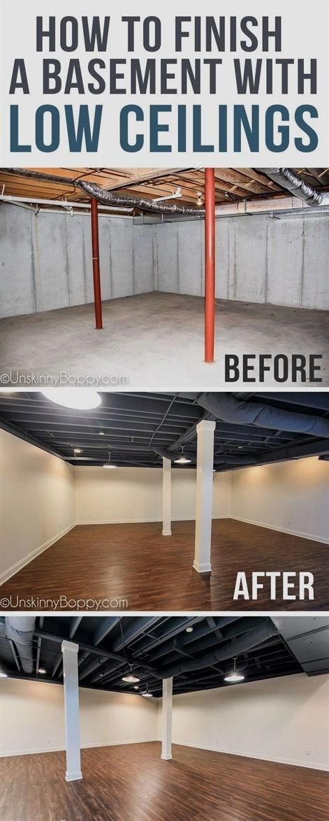 When You Re Looking To Design Your Basement It Is Important To 1st Determine The Purpose Of The Baseme Low Ceiling Basement Remodel Diy Small Basement Remodel