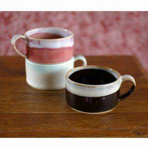 波佐見焼 スタッキング マグカップ 3色 Low コーヒーカップ ティーカップ スープカップ マグ マグカップ コーヒーカップ