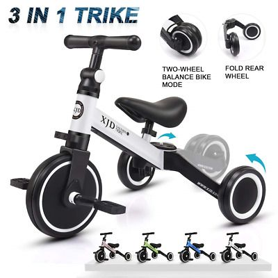 Advertisement Ebay Xjd 3 In 1 Kids Tricycles For 1 3 Years Old