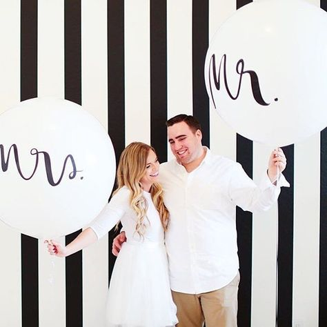 kate spade new york GIANT mr. and mrs. balloons | so cute for a couples shower or the big day!