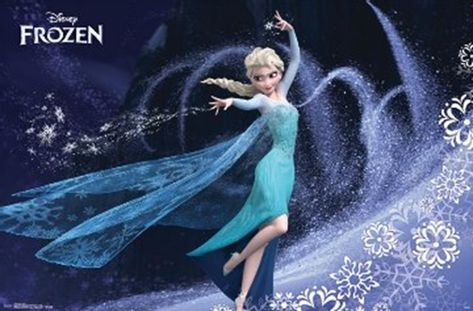 Frozen Elsa Movie Poster form GE Fundraising offer Classic Disney vintage Print Art Poster 22 X 34 In, Order your TODAY!