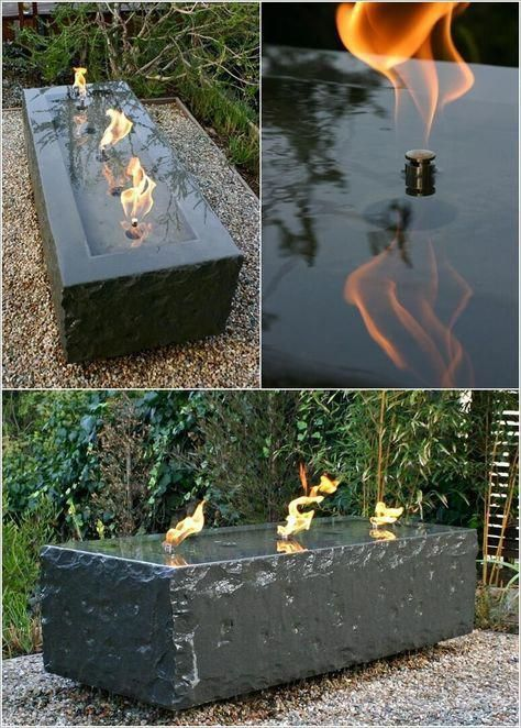 10 Water Feature And Fire Pit Combos You Will Admire