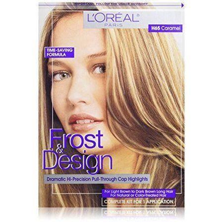 L Oreal Paris Frost And Design Cap Hair Highlights For Long Hair H65 Caramel 1 Kit Walmart Com Dark Brown Long Hair Hair Color Caramel Hair Highlights