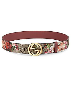 7bfada8c4 Gucci Floral Logo Print Belt | Things I LOVE, LIKE, WANT, NEED ...