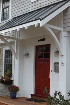 Corbel Size Shape Maybe Something Like This Overhead Think I Love This What Do You Say House Exterior Porch Awning Front Door Awning