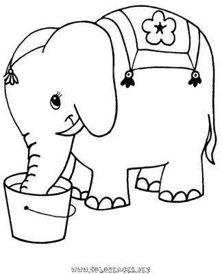 Coloriage Elephant A Colorier Dessin A Imprimer Coloriage