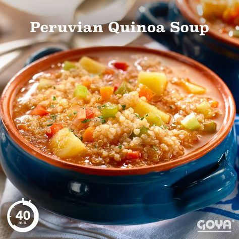 This soup will warm your heart and feed your soul. Loaded with vegetables and GOYA® Quinoa, it's packed with proteins and a wholesome taste, perfect for cold nights. #GOYAGood