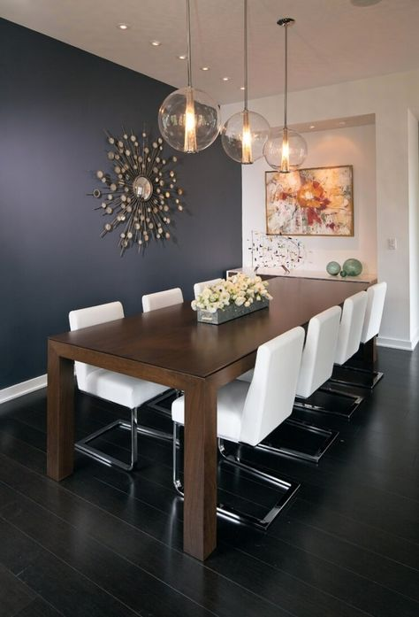 The Power Of Colors Why Your Color Choices Are Important Modern Dining Room Lighting Dining Room Design Farmhouse Dining